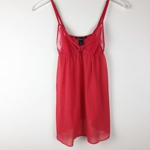 Victoria's Secret sexy sheer red baby doll chemise